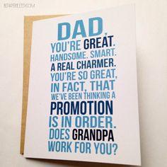 New Grandpa Card - First Time Grandpa | BEpaperie #pregnancy #newbaby #pregnancyreveal