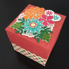 A flowery gift box.