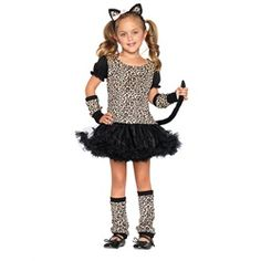 Wholesale Halloween Costumes - Kids Little Leopard Costume for Girls