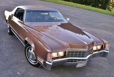 1968 Cadillac Fleetwood Eldorado with the hidden headlight doors open