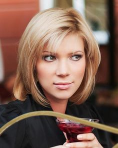 haircuts for medium hair thats straight and layered | wispy bangs are a flattering option for medium hairstyles this