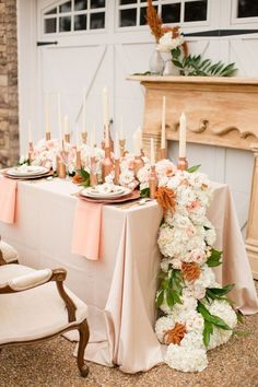 Copper Rose Gold Wedding Table Decor Ideas / http://www.deerpearlflowers.com/bronze-copper-wedding-color-ideas/
