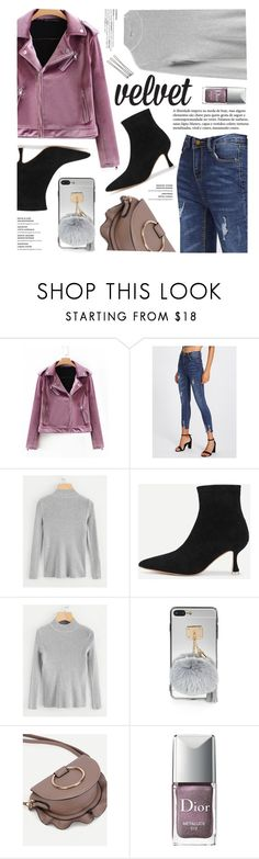 """""""Velvet"""" by yexyka ❤ liked on Polyvore featuring Christian Dior"""