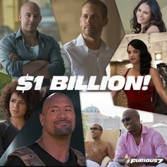We made history together. Thank you to the entire ‪Fast Family‬ for your support of ‪‎Furious 7‬.