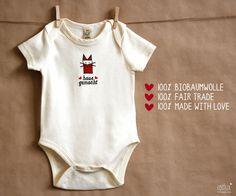 "Body, Strampler ""hausgemacht"" // Baby body, onsize ""homemade"" by ROTFUX - Produkte mit Herz via DaWanda.com"
