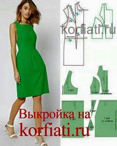 Vestido verde sisa baja