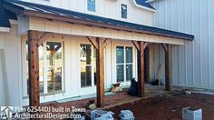 I love this house! move fireplace so it adjoins the back porch, enlarge the mudroom/dog room into the garage, with a door by the right garage door. Unscreen the dog porch and enclose the back porch like a 4 seasons room. Possibly enlarge height of kitchen ceiling, and put high ceiling in living room to help with heat/cooling, and add up stairs play room. Put additional mudroom under the stairs, and a dog room under the stairs with entrance from master. Cut out middle window at entrance to…