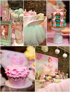 Sweet Ballerina Themed 1st Birthday Party with So Many Really Cute Ideas via Kara's Party Ideas KarasPartyIdeas.com #BalletParty #VintageBallerina #PartyIdeas #Supplies