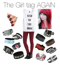 """""""Girl tag"""" by mychemicalromance-mcrmy ❤ liked on Polyvore"""