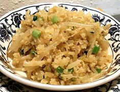 """Asian Flavored """"rice"""" using cauliflower.....is it just me, or did the whole world just start to understand this wonderful veggie?"""