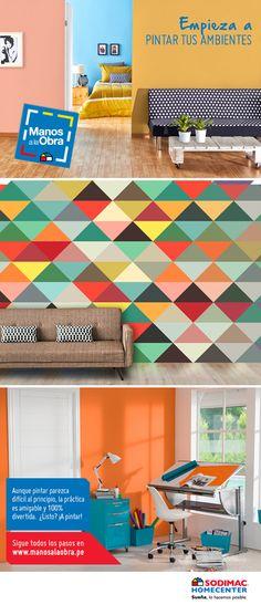 Deja que aflore el decorador en ti y transforma tu casa como siempre quisiste. Mira estos paso a paso para lograrlo.   Paso a paso de cómo pintar los ambientes #MANOSALAOBRA