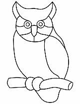 Tiffany Patterns for FREE 924 Owl