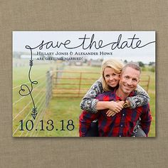 To the Point - Photo Save the Date 40% Off http://mediaplus.carlsoncraft.com/Wedding/Save-the-Dates/3254-TWS37134-To-the-Point--Photo-Save-the-Date.pro TWS37134 Let's get straight to the point with this photo save the date. A whimsical heart and arrow leads the way to your wedding date in the color of your choice.