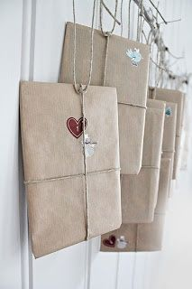 ...All you need is brown paper twine and one simple stamp.