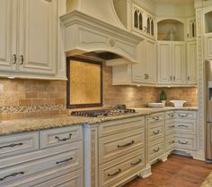 Antique ivory w/mocha glaze - brick backsplash or glass ?? Kitchen Cabinets - page 3