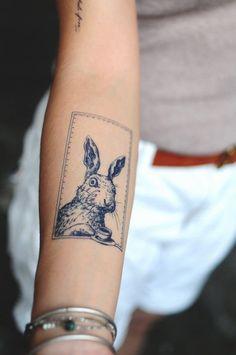 Blue Rabbit tattoos Bunny tattoos Boho tattoos Delicate Animal tattoos Japanese tattoos Alice in Wonderland Temporary Tattoos Cartoon Tattoo Boho Tattoos, Cute Tattoos, New Tattoos, Small Tattoos, Tattoos For Guys, Tatoos, Bohemian Tattoo, Amazing Tattoos, Pretty Tattoos