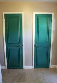 Simple molding update! I have so many plain doors in my new house and this will be so much cheaper then replacing them!