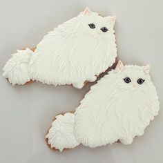 To know more about cafe luck sweet shop persian cat cookies, visit Sumally, a social network that gathers together all the wanted things in the world! Cat Cookies, Fancy Cookies, Royal Icing Cookies, Cupcake Cookies, Sugar Cookies, Cat Themed Parties, Animal Gato, Kawaii Dessert, Animal Cupcakes