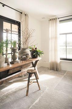 kitchen ideas – New Ideas Stone Tile Flooring, Natural Stone Flooring, Living Room Flooring, Kitchen Flooring, Stone Interior, Interior Design, Unique Flooring, Küchen Design, Home And Living