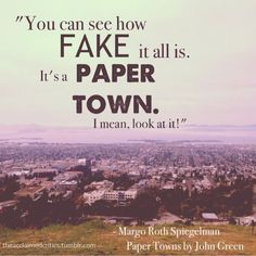I Eat Words: Paper Towns by John Green