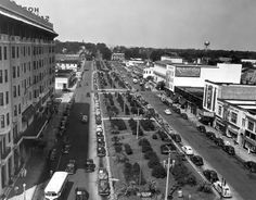 Bird's eye view of Palafox Street with San Carlos Hotel on the left - Pensacola, Florida  Date 1947
