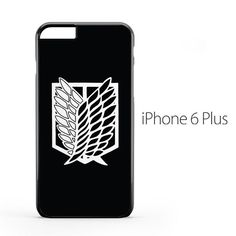 Attack on Titan Scouting Logo Black iPhone 6 Plus Case