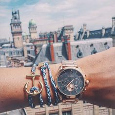 Paris from above with and her Nixon Bullet Chrono - Nixon Watch - All Rose Gold - Sky View Gold Skies, Tom Ford Makeup, Vintage Watches For Men, Mac Eyeshadow, Nixon Watches, Sky View, Gold Watch, Mac Cosmetics, Jewelery