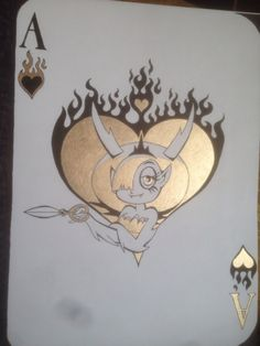 "malthuswibble: ""Ace of Flames (SvtFoE Cards Series Number 2: Ace of Hearts) """