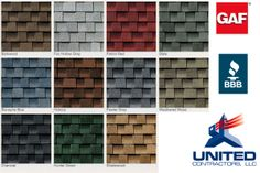 GAF Timberline color palette #unitedcontractorsmyrtlebeachsc