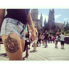Harry Potter Tattoos That Would Make J.K. Rowling Proud ❤ liked on Polyvore featuring tattoos