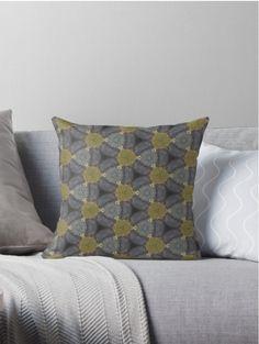 Oil paint pattern pillow @ redbubble.com