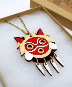 Princess Mononoke Mask Necklace #princessmononoke #anime #kawaii #studioghibli #merch #merchandise #mononoke