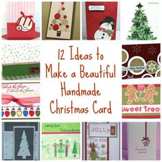 12 Ideas to Make a Beautiful Handmade Christmas Card