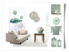 mint green by levai-magdolna on Polyvore featuring interior, interiors, interior design, home, home decor, interior decorating, Bensen, Flamant, Karlsson and Bluebellgray