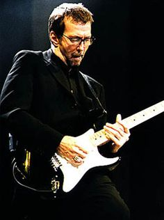 Eric Clapton:  The Yardbirds, Cream,  Rock and Roll Hall of Fame...  - Pic found by http://GuitarBasics.com