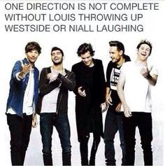 it is never complete without Niall laughing