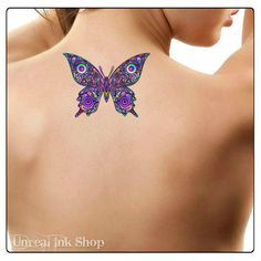 Temporary Tattoo Butterfly Fake Tattoo by UnrealInkShop on Etsy