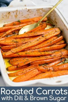 dinner side dishes This easy recipe for oven Roasted Carrots with Dill is a simple sidedish to whip up for any occasion. With 4 simpleingredients, this recipe for baked carrots with Carrots In Oven, Oven Roasted Carrots, Carrots Side Dish, Dill Recipes, Herb Recipes, Vegetable Recipes, Cooking Recipes, Easter Recipes, Recipes
