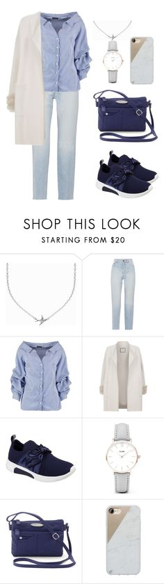 """""""Blue-Casual Look"""" by nildanabila10 on Polyvore featuring Minnie Grace, Yves Saint Laurent, Boohoo, Max & Moi, Skechers, CLUSE, Rosetti and Native Union"""