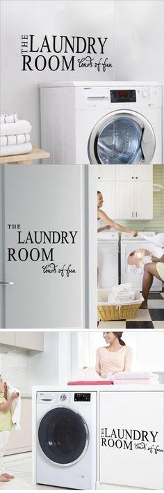 Environmental protection PVC home decor laundry room washing machine decorative alphabet fun wall stickers Paper $2.5