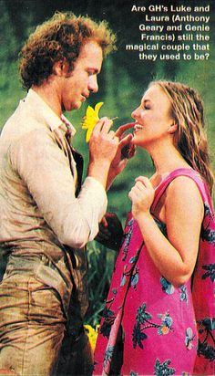 Luke and Laura (Soap Opera Digest, Tony Geary, Laura Spencer, Genie Francis, Luke And Laura, Ice Princess, Falling In Love With Him, Bold And The Beautiful, Young And The Restless, General Hospital