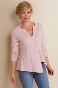 Hayden Top - Asymmetrical Top. Cotton Top. | Soft Surroundings