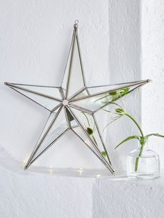 Take part in an age-old Scandinavian tradition by hanging this wonderfully large festive star in your home and watch as the mirrored glass shimmers and sparkles in the light. Nordic House
