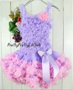 Girls Dress Petti Dress Ruffled Girls by PrettyPrettyLilGirls, $38.99