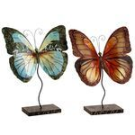 Mini Capiz Butterflies with Stands