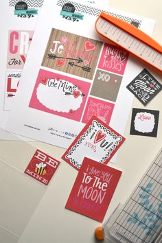 six pages of Valentine's POCKET PAGES™ Free (!!!) Printables | me & my BIG ideas