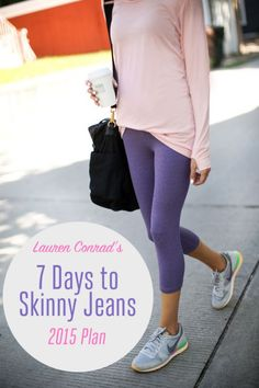 Shape Up: Lauren Conrad's 7 Days to Skinny Jeans 2015 Schedule {absolutely love this plan}