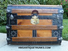 1873 Romadka Bros. Antique Travel Trunk