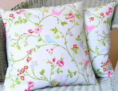 Birdsong duckegg 16 inch handmade cushion pillow by CoupleHome, $13.50