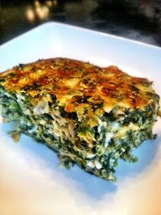 Crustless Spinach Quiche ~ Is Yummy INGREDIENTS:  4 eggs 1 small onion, chopped 1 cup cottage cheese 1 (10 oz.) pkg. frozen chopped Spinach, thawed and drained 3 Tbsp. grated Parmesan 1.5 cups  shredded sharp cheddar cheese 1/2 cup of shredded mozzarella (I used fresh since I had it) 3 Tbsp. butter (melted) 3 Tbsp. flour ½ tsp garlic powder 1 tsp crushed red pepper flakes 1 tsp pepper ½ tsp kosher salt 2-4 dashes of hot sauce Preheat oven to 350 degrees